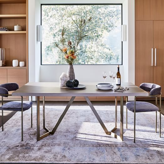 Tower Dining Table Concrete West Elm Dining Room Concrete