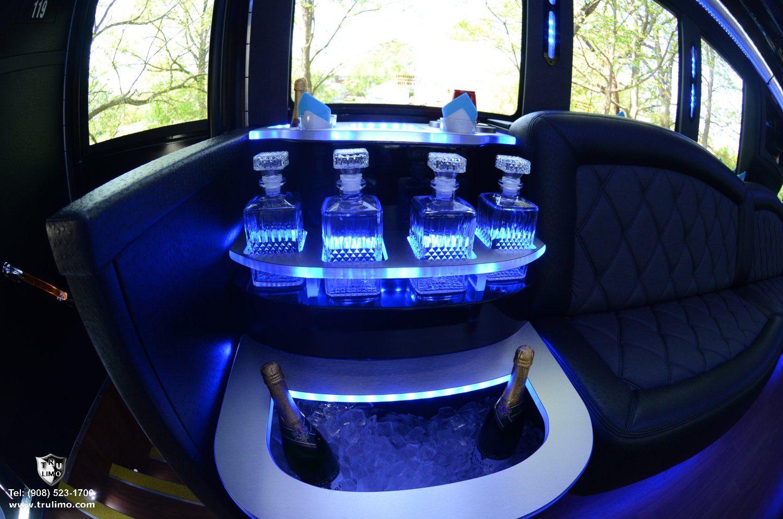 27 passenger nj party bus interior