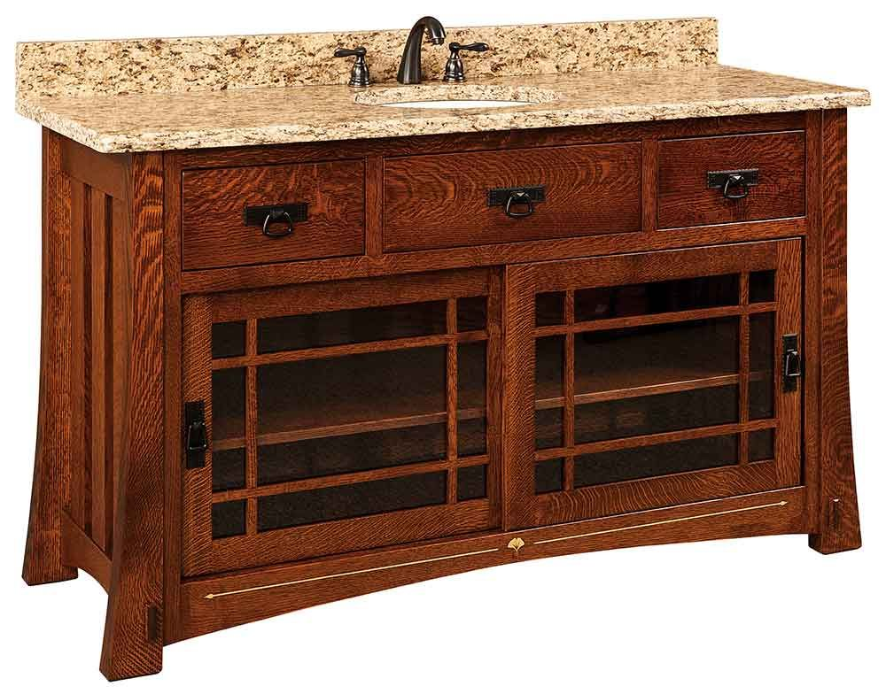 Here We Display Some Of Our Select Amish Made Bathroom Vanities