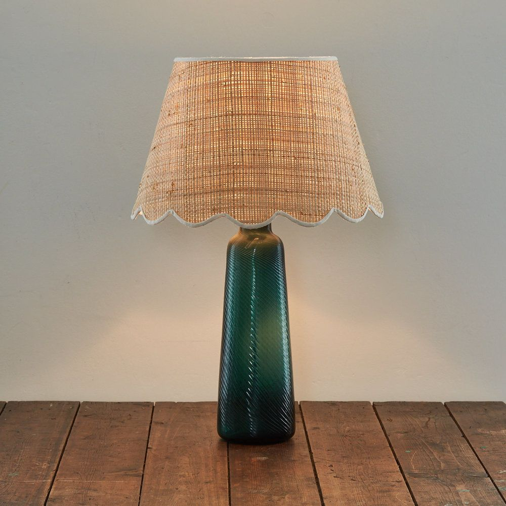 Raffia scallop lampshade matilda goad lighting pinterest raffia scallop lampshade 14 mozeypictures Gallery