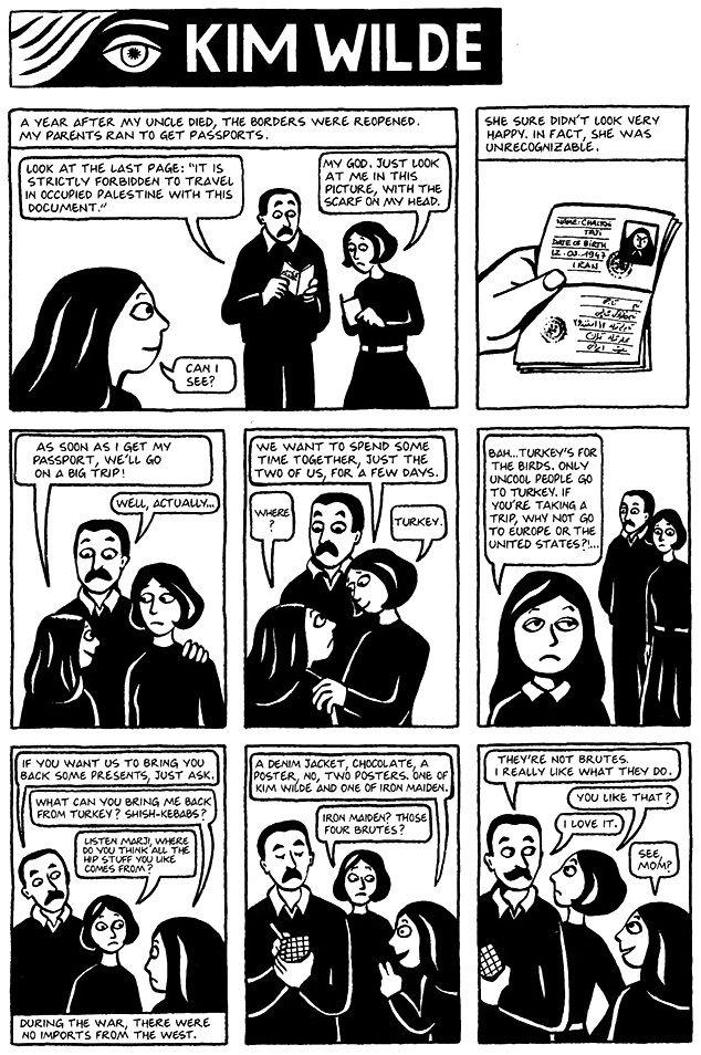 Chapter 17 Kim Wilde From Marjane Satrapi S Persepolis 1 Graphic Novel Reading Comics