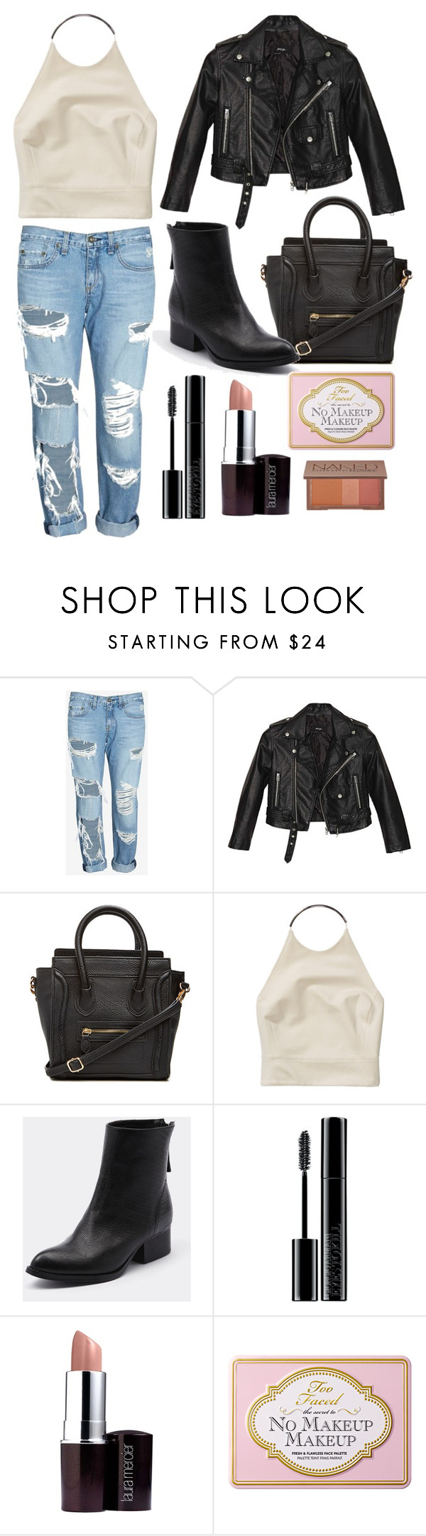 """""""Kendall Jenner"""" by kamillajenner ❤ liked on Polyvore featuring rag & bone/JEAN, Nasty Gal, DailyLook, Wilfred, Tony Bianco, Giorgio Armani, Laura Mercier, Urban Decay and kendalljenner"""