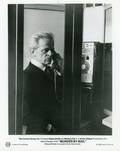 KLAUS KINSKI MURDER BY MAIL SCHIZOID 1980