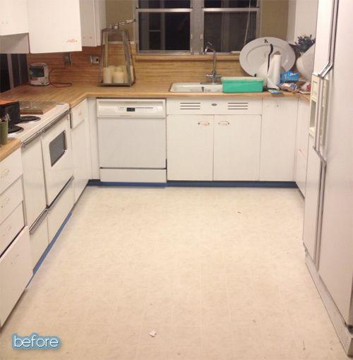 Painting Linoleum Floors Plan Display