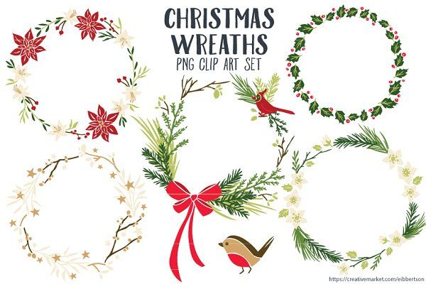 Christmas Wreaths Clip Art Png Christmas Wreath Clipart Wreath Clip Art Wreath Drawing
