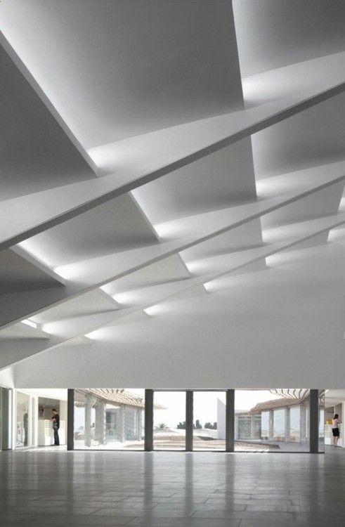 Best Amazing Geometric Ceiling White Architecture 지붕 디자인 400 x 300