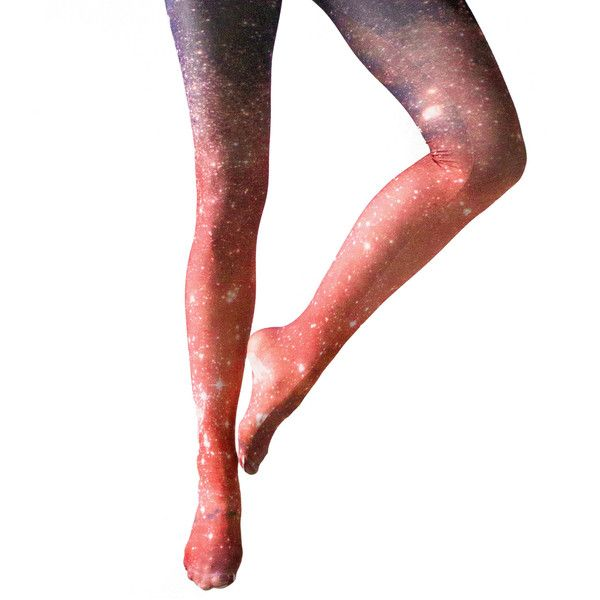 Crimson Galaxy Tights ($24) ❤ liked on Polyvore featuring intimates, hosiery, tights, cosmic tights, print tights, nebula tights, patterned tights and galaxy print tights