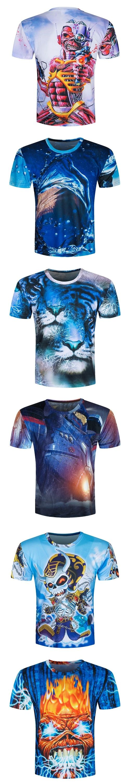 ad89231abd34 3d t-shirt Skull poker Men short sleeve casual breathable plus size tshirt  New design