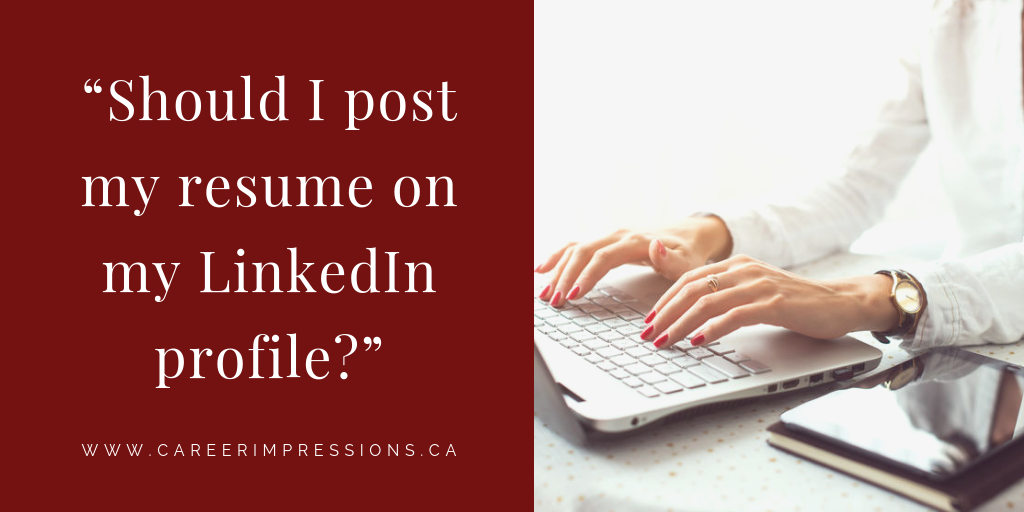 Should You Share Your Executive Resume on Your LinkedIn