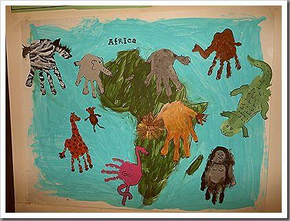 arte con animales de África