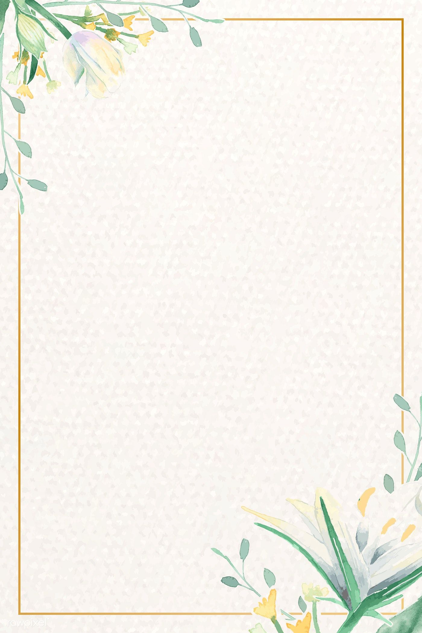 Download Premium Vector Of Vintage Watercolor Floral Card Template Vector Floral Watercolor Floral Cards Floral Cards Design