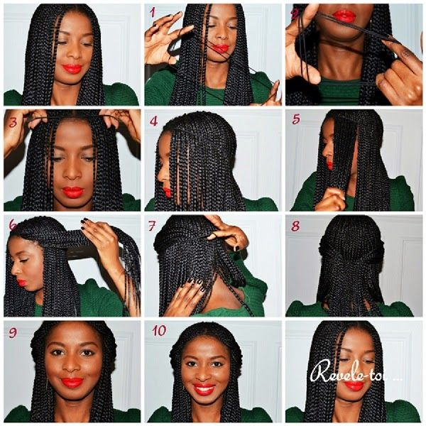 African Naturalistas How To Style Your Box Braids.