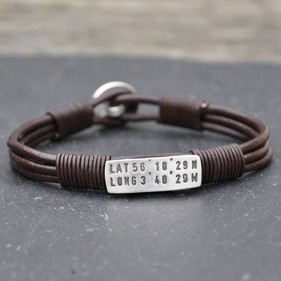 bracelet longitude georgie personalised pin love latitude