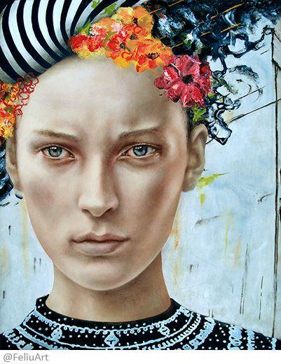 Valeria Feliú - Overthink – Oil painting