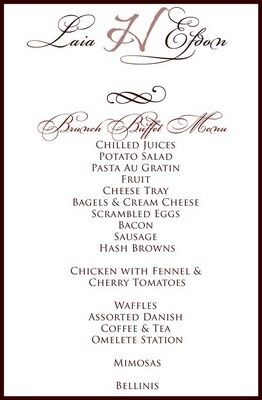 wedding buffet menu ideas - Wedding Decor Ideas