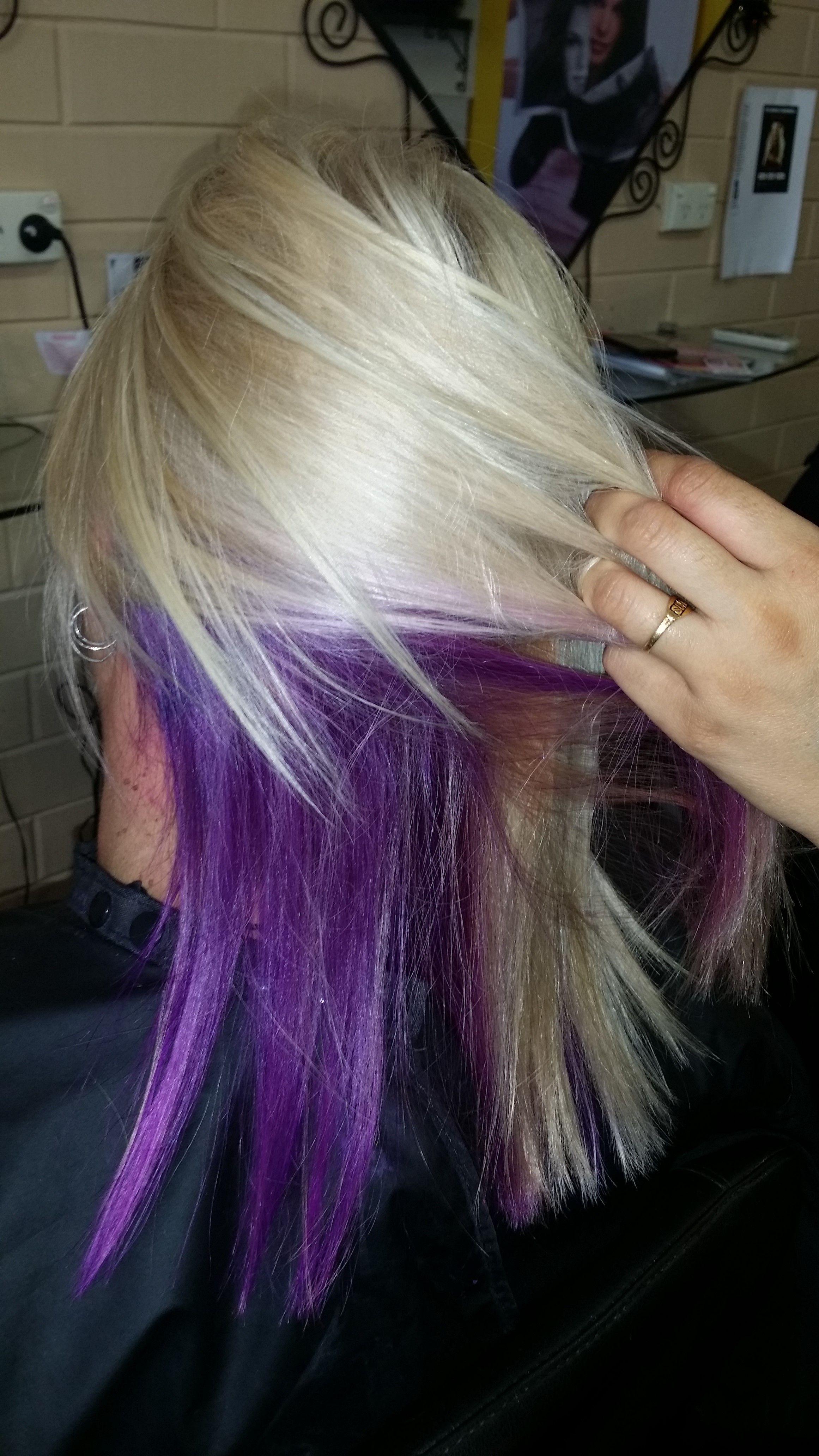 photos blonde hair with purple foils for desktop hd pics brookeus peek a boo hairsalon