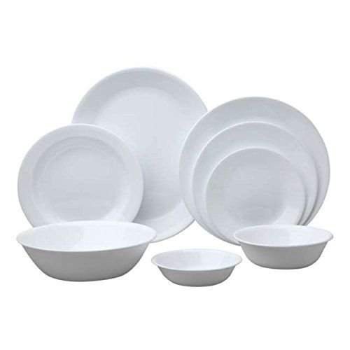 Corelle Livingware 76-Piece Dinnerware Set Service for 12 Winter Frost White Corelle Coordinates //.amazon.com/dp/B00M0NCKJO/refu003d ...  sc 1 st  Pinterest & Corelle Livingware 76-Piece Dinnerware Set Service for 12 Winter ...