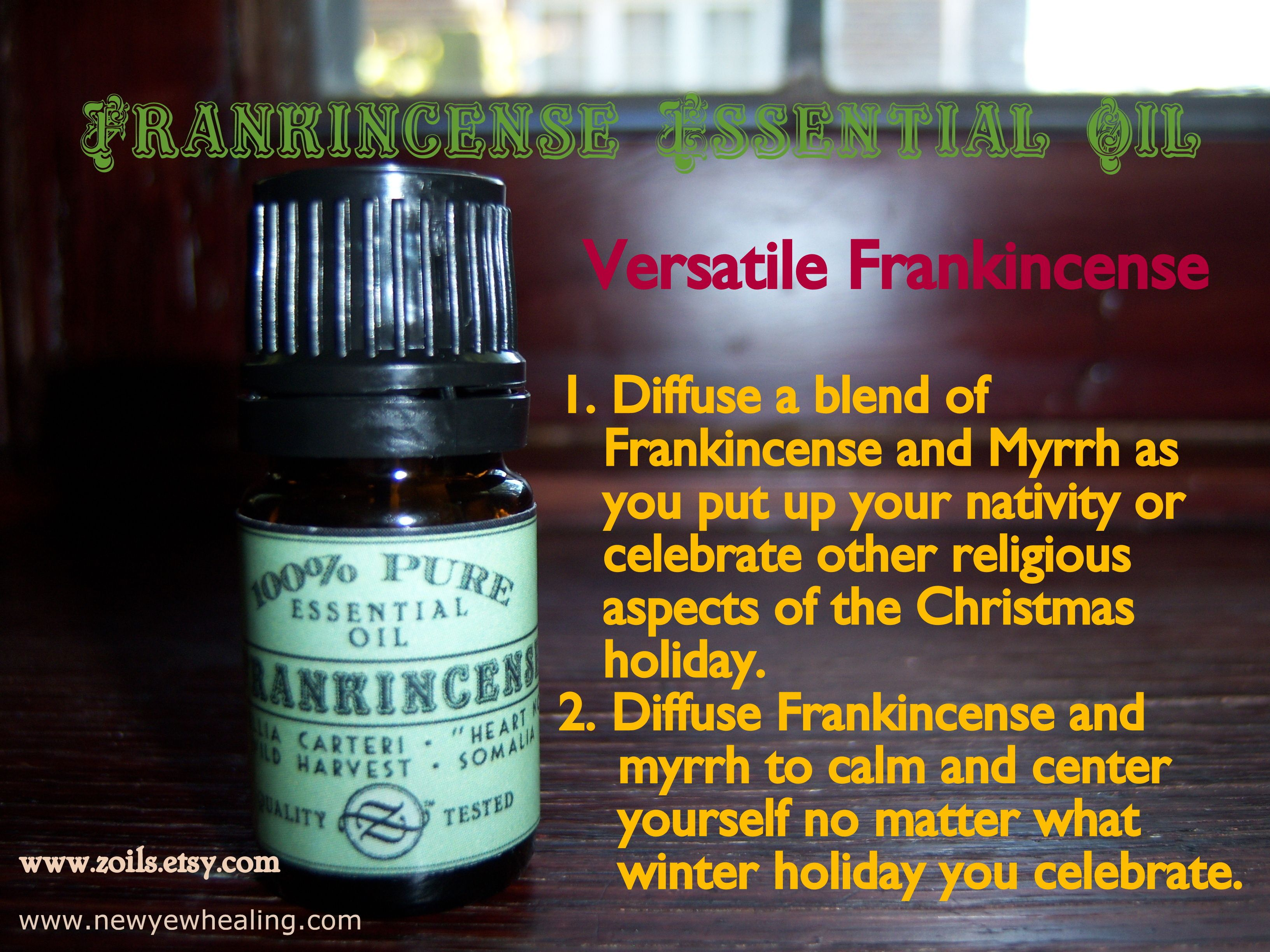 Frankincense... perfect for Christmas, perfect for any other celebration, too.