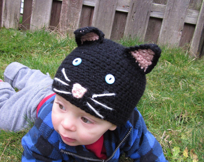 PATTERN Crochet Baby Cat Hat Child Cap Benie PDF. $5.00, via Etsy ...