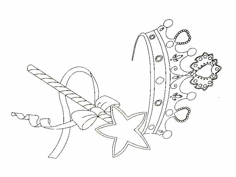 Color The Princess Crown And Wand With Your Favorite Colors Princess Coloring Coloring Book Pages Coloring Pages