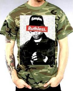 Eazy E T Shirt Ruthless Camo Cool Shirts Cool T Shirts Punk Shirt