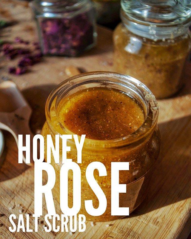 Honey Rose Salt Scrub Recipe   Rzeczy do kupienia   Pinterest