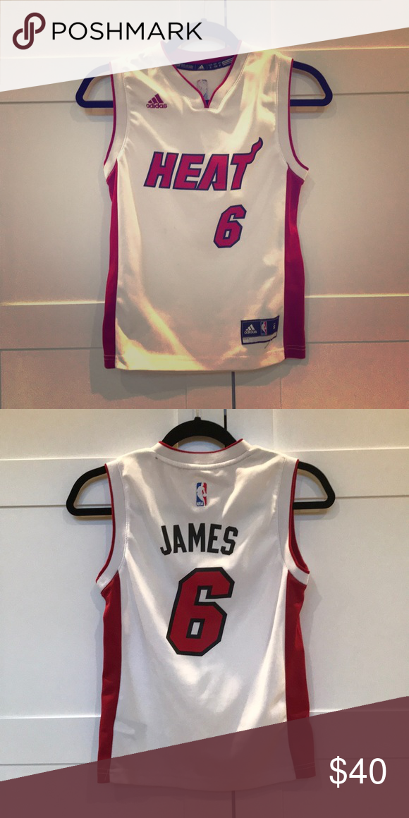 8a0802f5397 Lebron James Miami Heat Jersey. Size small kids Authentic Adidas NBA Lebron  James Jersey size small kids adidas Shirts   Tops
