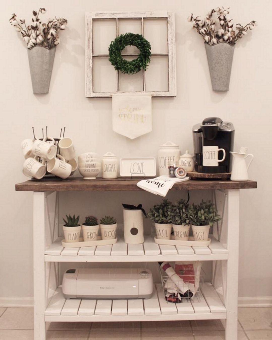 Astounding 75 Elegant Home Coffee Bar Design And Decor Ideas You ...