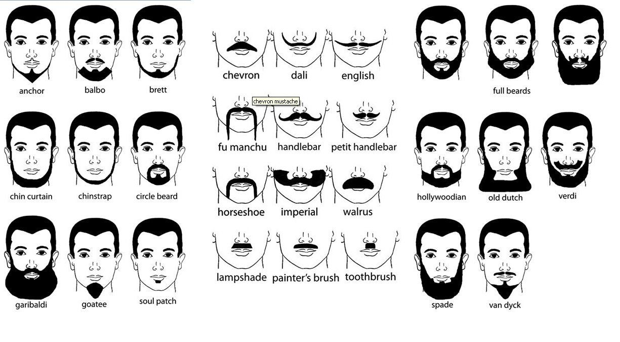 Never Knew There Were So Many Names For Facial Hair