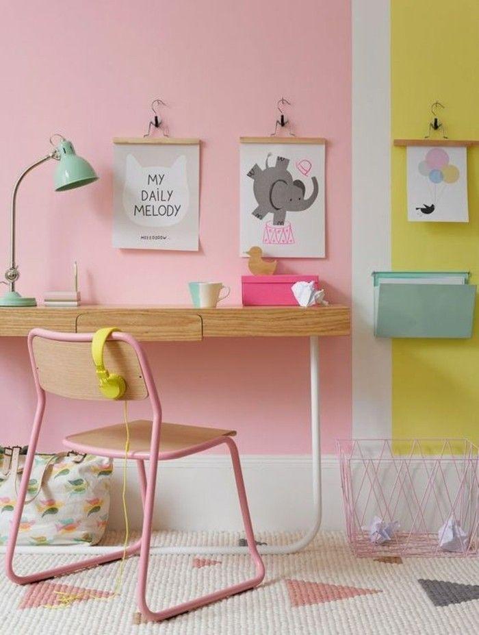 Idee Couleur Peinture Chambre Murs Roses Pales Chambre D Enfant Colorée