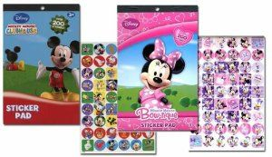 Disney Mickey Mouse Sticker Pad and Minnie Mouse Sticker Pad Set (Over 400 Stickers total!) by Disney. $9.25