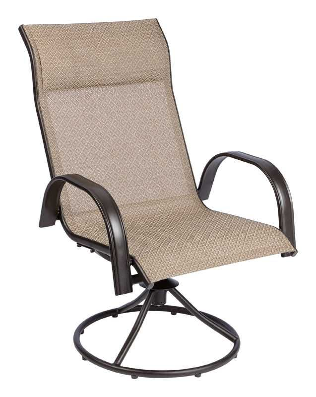 Remarkable Living Accents Swivel Dark Brown Steel With Sling Fabric Camellatalisay Diy Chair Ideas Camellatalisaycom