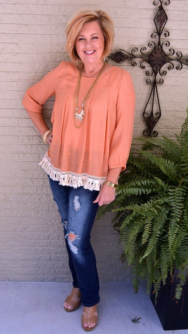 50 IS NOT OLD| CAN YOU WEAR PEACH IN THE FALL | Peach for ...
