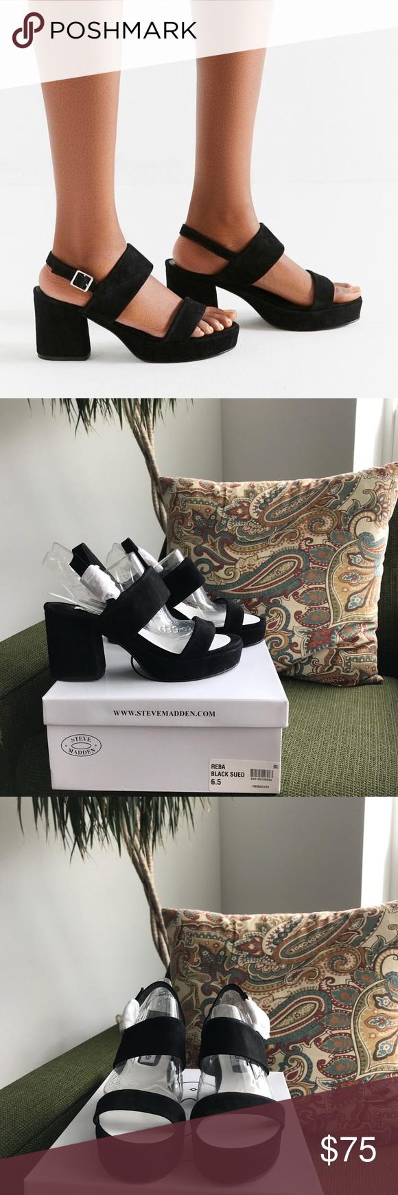 39c1e8108bed BRAND NEW Black Steve Madden Reba heeled Sandals The most amazing ...