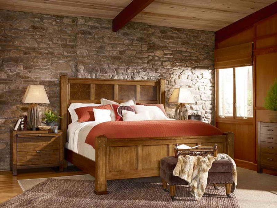 Camera Da Letto Rustica Moderna : Pareti rivestite in pietra per camere da letto classiche o moderne