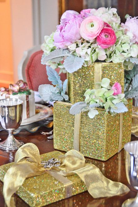 Gift Box Brunch Table Centerpiece Mississippi Magazine Table Centerpieces Table Decorations Event Planning