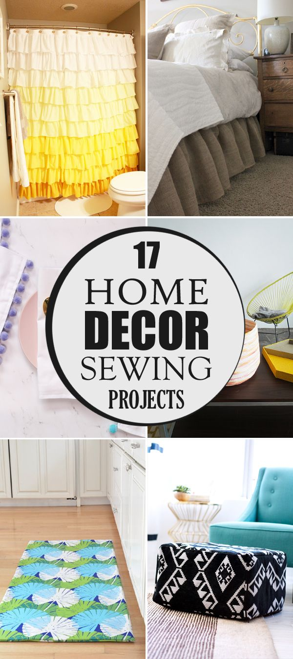 17 Home Decor Sewing Projects | Sewing projects, Sewing patterns and ...