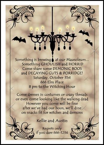Ghoulish Halloween Fright Night Invitation Cards Halloween - halloween invitation template
