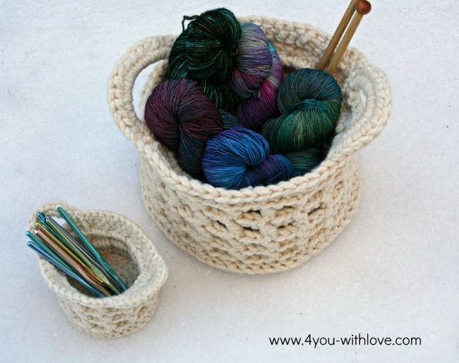 A FREE crochet basket pattern using the raised box stitch to add ...