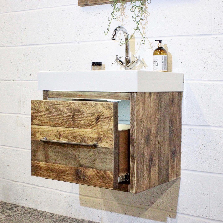 Clay Wall Hung Bathroom Vanity Unit W Basin Tap
