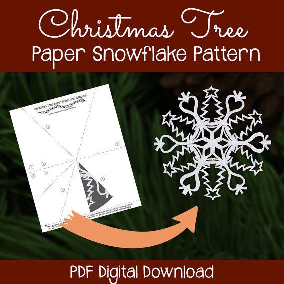Pin On Paper Snowflake Patterns