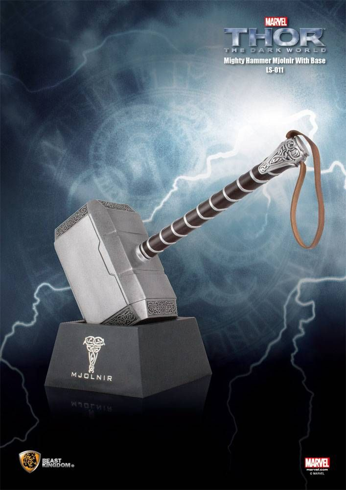 beast kingdom toys thor the dark world replica 1 1 the mighty