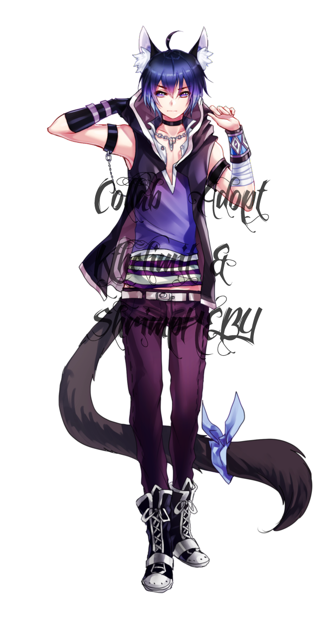 Collab Adopt With Kthelimit Closed By Shrimpheby On Deviantart Anime Neko Cute Anime Boy Cute Anime Guys