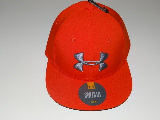 1a4de35db46 Under Armour Boy s Heat Gear Orange Gray Youth Baseball Hat Cap Size  SM MD   UnderArmour  BaseballCap
