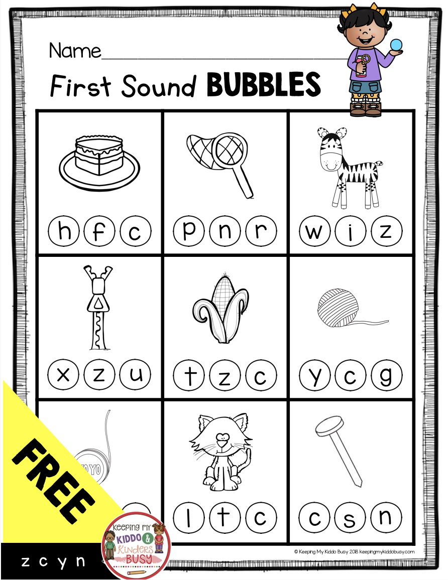 Teaching First Sounds Complete Unit With Freebies Keeping My Kiddo Busy Kindergarten Phonics Activities Letter Sound Activities Beginning Sounds Worksheets [ 1156 x 892 Pixel ]
