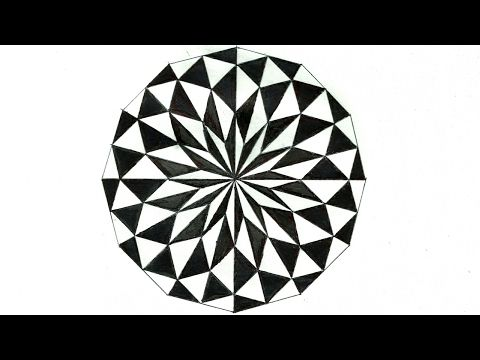 2 The Art Of Drawing A Great Geometry Diamand In Black And White Tutorial Youtube Geometric Patterns Drawing Geometric Drawing Geometric Pattern Circle