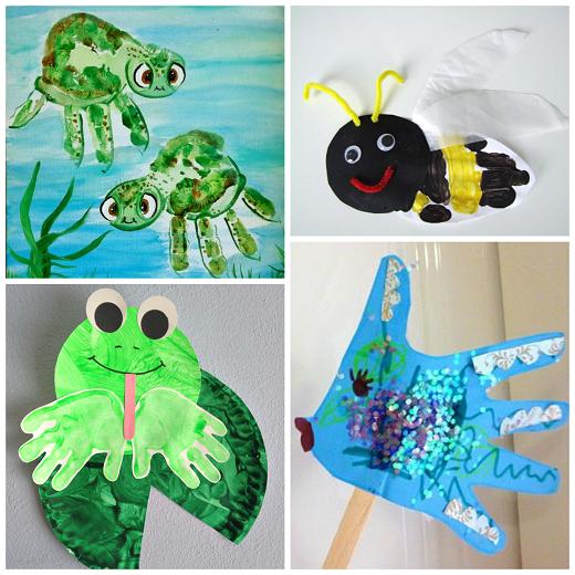 Summer Handprint Crafts For Kids To Make