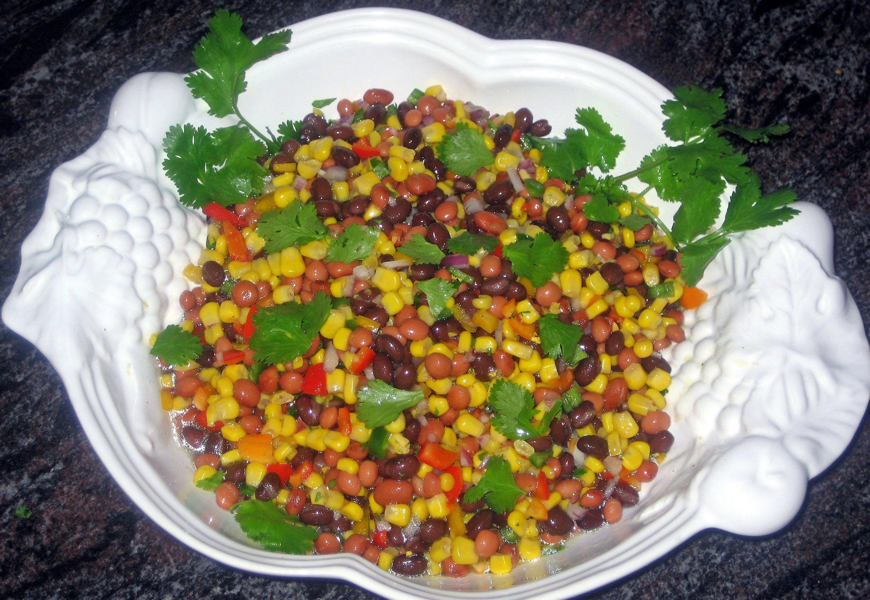 Multi Colored Bean and Corn Salad