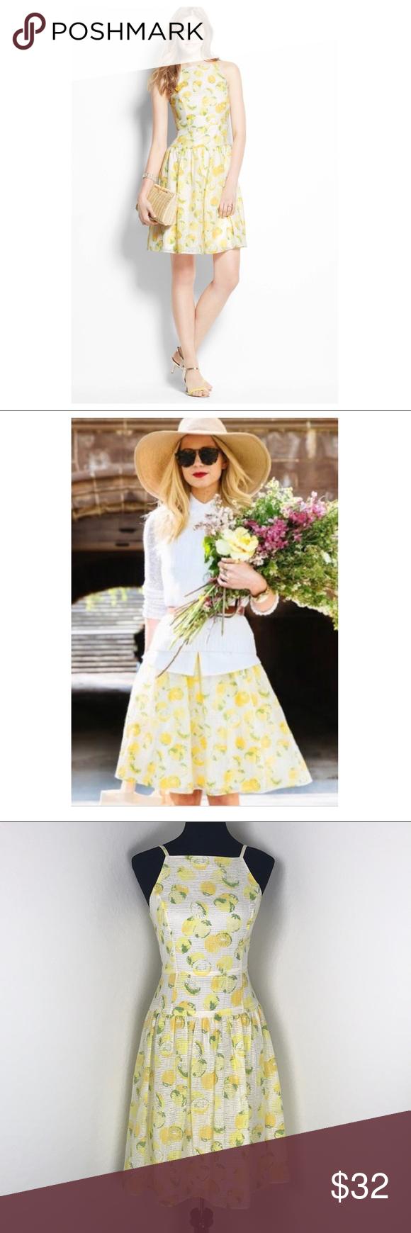 Ann Taylor Yellow White Lemon Print Dress Lemon Print Dress Dresses Lemon Print [ 1740 x 580 Pixel ]