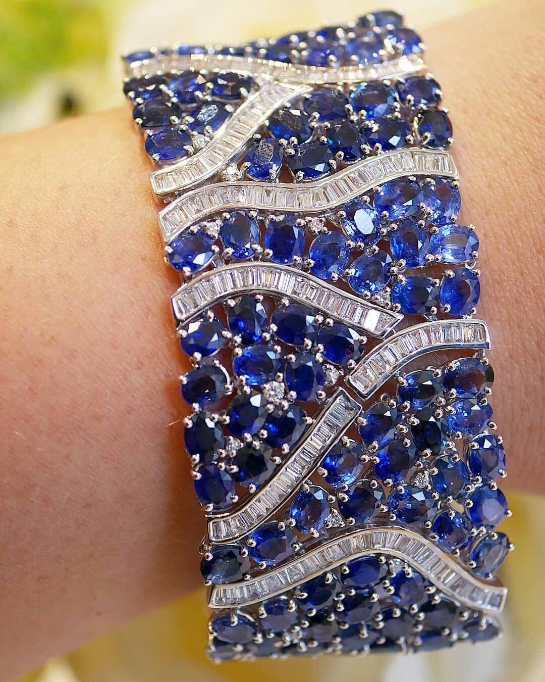 67524b1619e Diamond and sapphire cuff by  djulajewelry. Outrageous and provocative